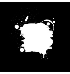 Abstract background Grunge paint banner Black and vector image