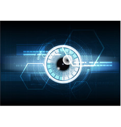 abstract technological eye scanning hud security vector image