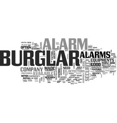 Ademco burglar alarm text word cloud concept vector