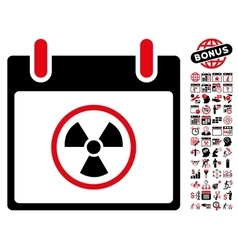 Atomic Calendar Day Flat Icon With Bonus vector image