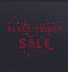 black friday sale vintage banner vector image