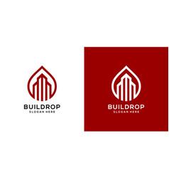 building drop logo template design vector image