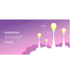 business idea banner horizontal cartoon style vector image