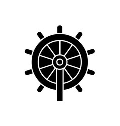 business steering wheel black concept icon vector image