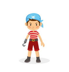Cartoon of young pirate vector