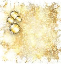 christmas bauble background 1911 vector image