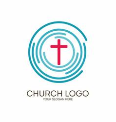 Circles target and jesus cross vector