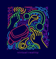 color design device virtual reality modern vector image