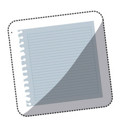 color notebook school icon vector image