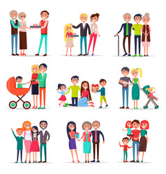 Concept parents day on white background flat vector