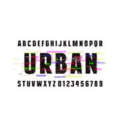 Decorative sans serif font vector