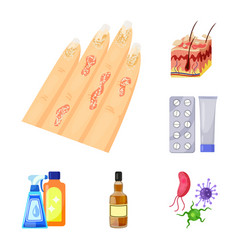 Design of pain and dermatology icon vector