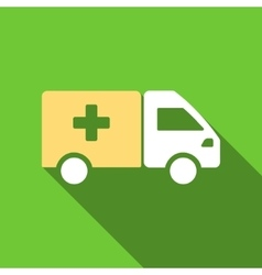 Drug Shipment Flat Long Shadow Square Icon vector image