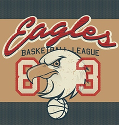 Eagles Basketball league jersey print vector image