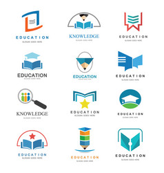 Education logo set vector