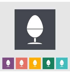 Egg on stand single icon vector image