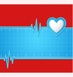 Electrocardiogram Useful as background vector image