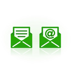 email symbols on white background vector image