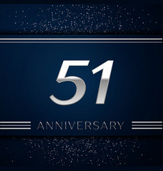 fifty one years anniversary celebration logotype vector image