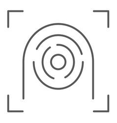 Fingerprint scanner thin line icon security vector