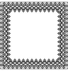 Floral Pattern Fine Frame vector