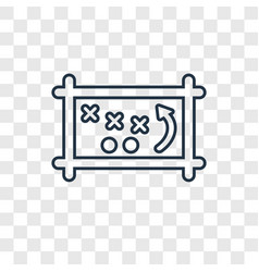 Game planning concept linear icon isolated on vector