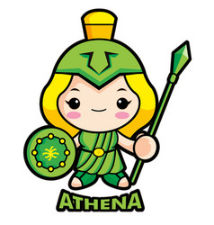 Goddess of war athena character olympus god vector