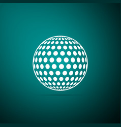 golf icon isolated on green background vector image