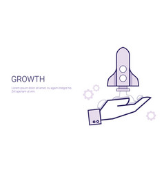 growth concept startup project development vector image