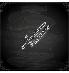 Hand Drawn Sword vector image