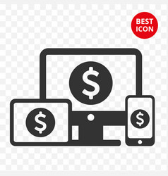 icon device freelans trading mobile tablet vector image