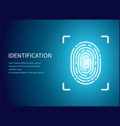 Identification fingerprint poster text vector
