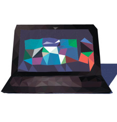 Laptop triangle vector