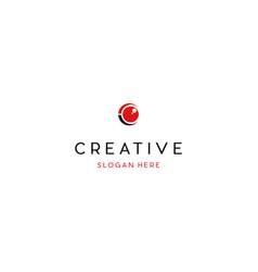 Letter c vision eye creative business logo design vector