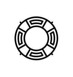 Life buoy outline icon beach summer season logo vector