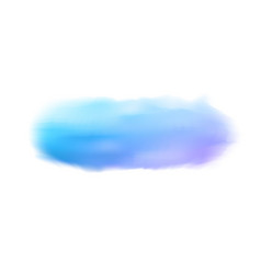 light blue realistic watercolor brush strokes on vector image