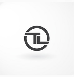 logo design with combination letter t and l black vector image