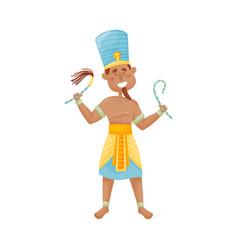 Man with a narrow beard in a suit pharaoh vector