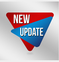 new update label or sticker vector image