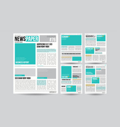 newspaper template financial articles vector image