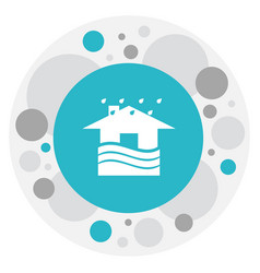 Of weather symbol on house vector