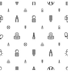 Professional icons pattern seamless white vector