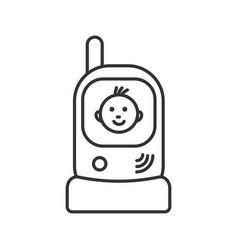 Radio nanny linear icon vector