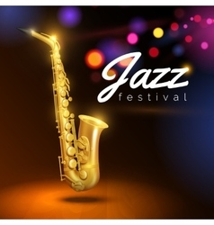 Saxophone On Black Background vector image