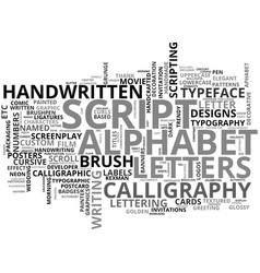 Scripting word cloud concept vector