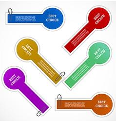Set of labels vector image