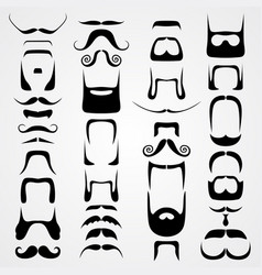 Set of whiskers vector