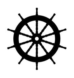 silhouette graphic handwheel vector image