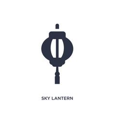 Sky lantern icon on white background simple vector
