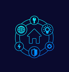 Smart house icons design vector